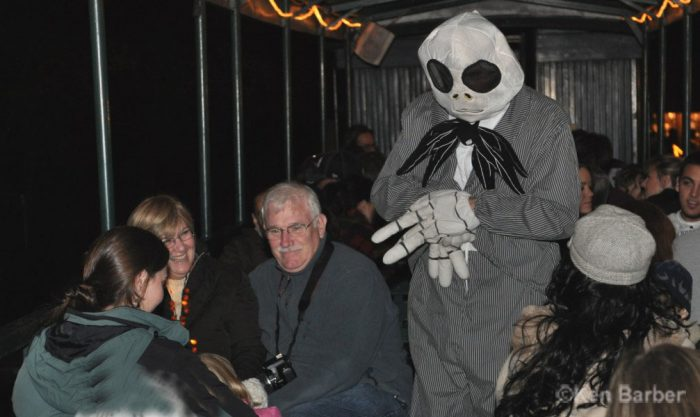 The story is a bit different each year, but you can be sure that you'll be greeted by costumed characters when you step aboard.