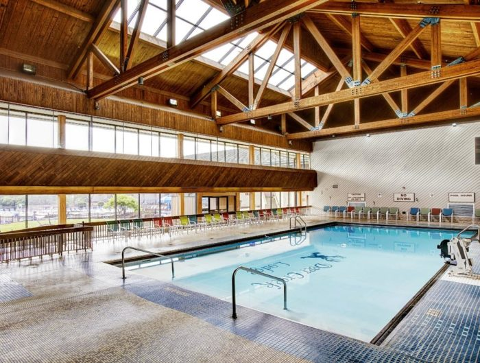 ...but there's also an indoor pool for the cooler months.