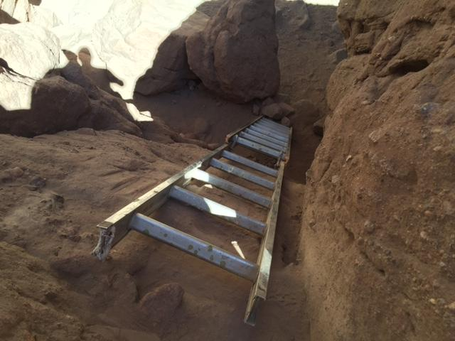 You'll descend another series of ladders to get back to the floor of the canyon.