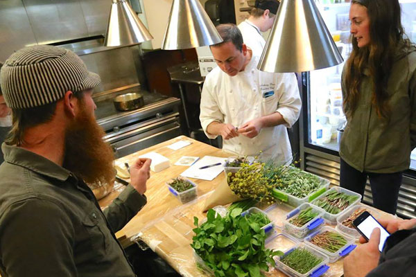 Restaurant Latour serves only the freshest ingredients, many of which are locally foraged.