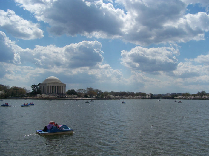 10. We get waterfront views and water activities on the Potomac River and at the Tidal Basin.