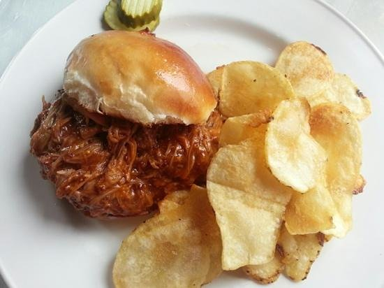 ...to Barbecue Pulled Pork with Homemade Chips.