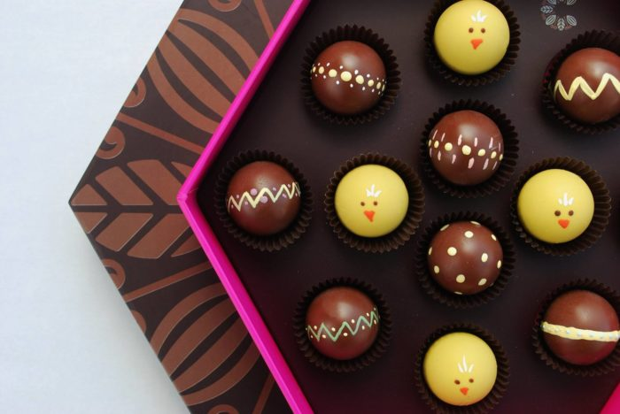 The hand painted truffles are always a delight.