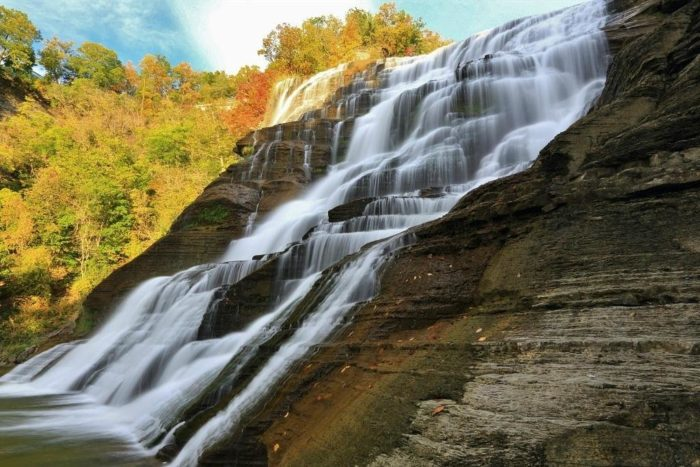 5. While it's difficult to choose a favorite, the next stop at Ithaca Falls is certainly one you won't forget.