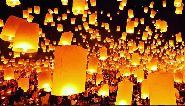 As soon as the sun sets below Houston's horizon, it will be time to send your lantern into the sky.