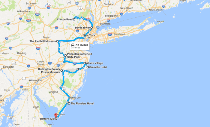 Take This Road Trip Of Haunted Places In New Jersey - Nj road map