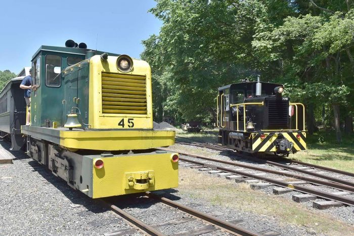 Most of the year, the railroad offers scenic train rides throughout the park.