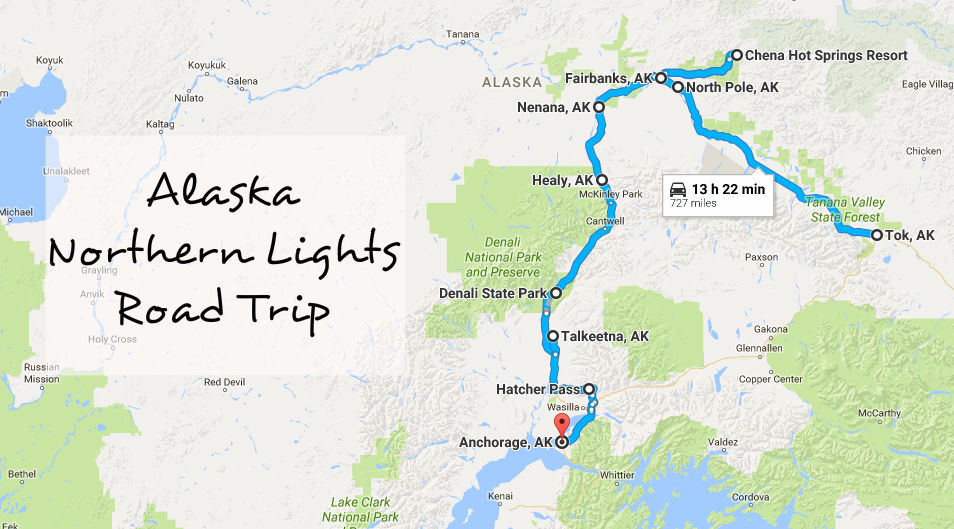This Road Trip Takes You To The Best Places To See The Northern ...