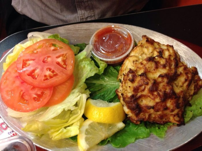 And like any iconic Maryland eatery, this restaurant serves a mean crab cake.
