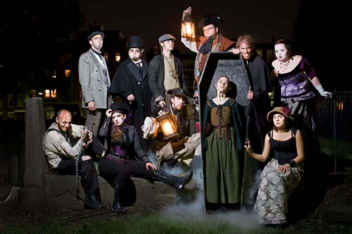 Your journey will be guided by a motley cast of characters from Boston folklore and history. You'll meet a pyromaniac circus ringleader, a murderous opera diva and a homicidal nanny.