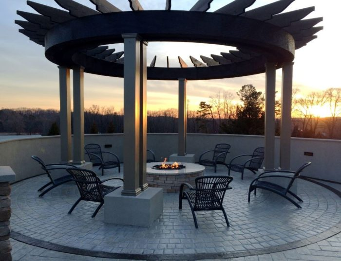 Catching a sunset on the patio in front of the fireplace is what dreams are made of.