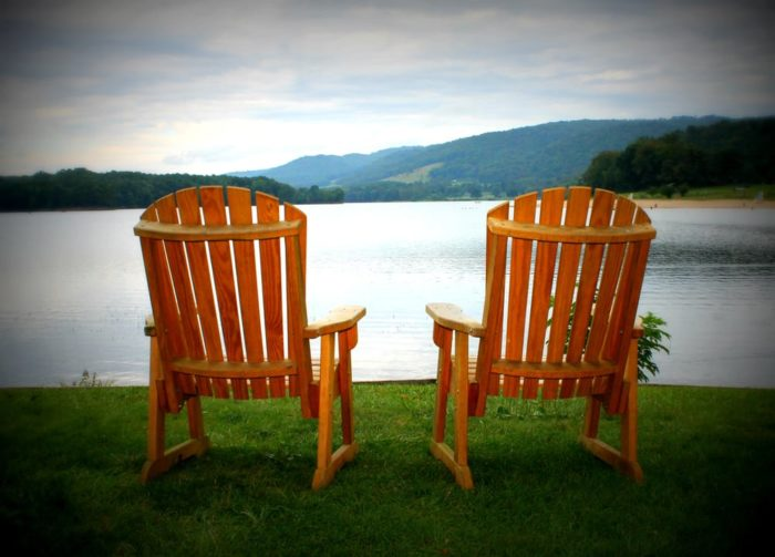 Once you're back on land, hike the trails around the adjacent Rocky Gap State Park before taking a seat with a view.