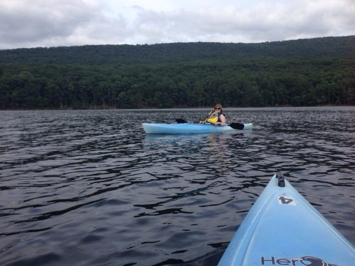 Nestled in the mountains, this lake offers sweeping views. You may never want to leave your kayak.