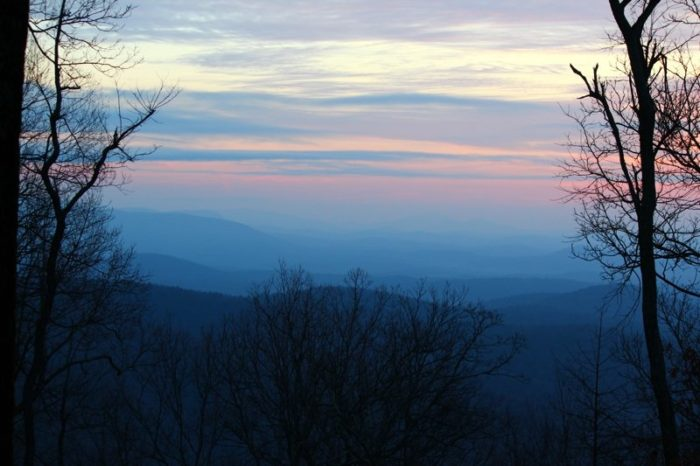 Located in North Georgia's Fannin County, you'll find the trailhead for Springer Mountain at the blue blazed 8.5-mile approach trail at Amicalola Falls State Park.