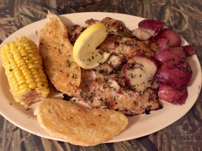 This grilled catfish dish is one of my favorites. The butter seasoning is amazing.