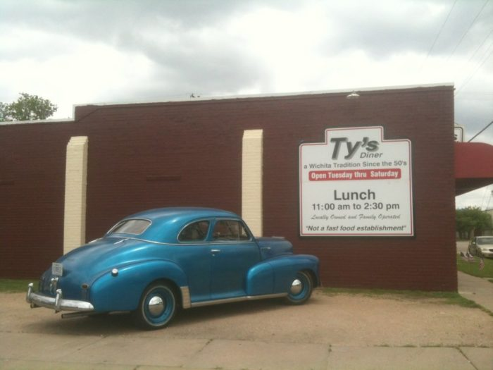 Originally opened in 1953, Ty's Diner is a Wichita icon that is known as much for its good-old fashioned fare as it is for the retro cars in the parking lot.
