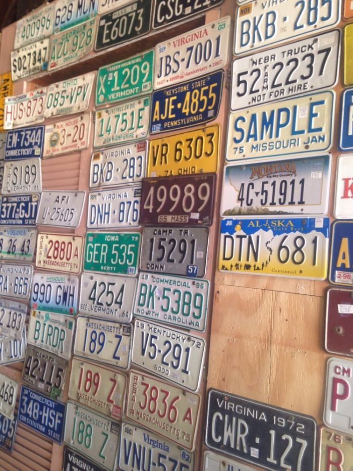 They have a huge selection of collectibles, ranging from license plates...