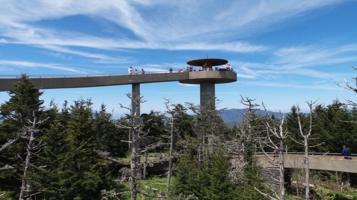 A popular spot for visitors to explore is Clingmans Dome, the highest point in the park.