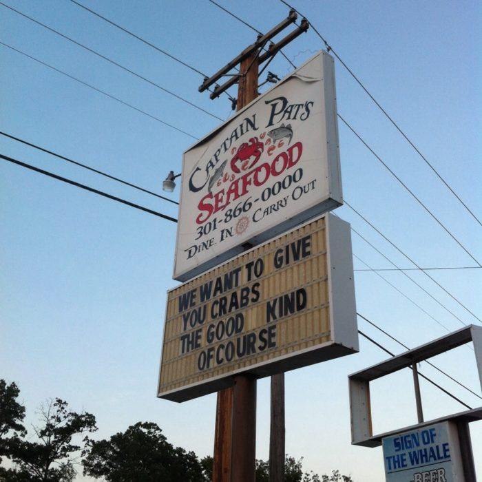 12. Captain Pat's Seafood, Lexington Park