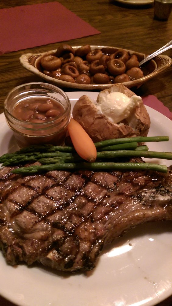 Or maybe a ribeye with a side of mushrooms is more to your liking. You can't go wrong with any steak on the menu here.