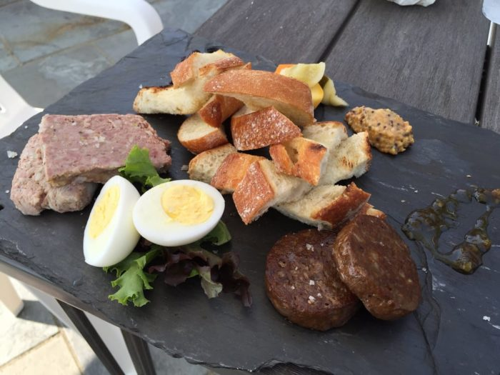 One of the most delicious treats is the homemade charcuterie, made right on the farm.