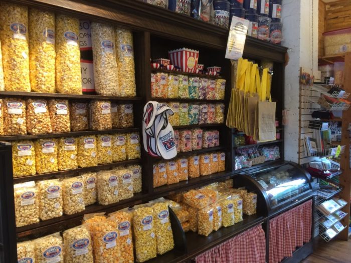 Today, you'll find some of the best (and most uniquely flavored) popcorn in the state. There are several signature flavors such as Chocolate Kettle Corn,  Hometown Orange and Brown, Pecan Almond Carmel Corn and more.