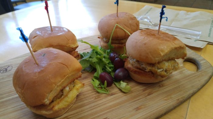 I recommend the crab cake sliders. People go crazy for 'em.