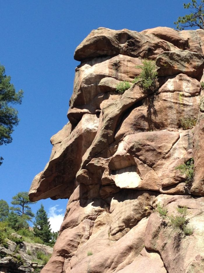 ...and steep, rocky cliffs which surround the entire area.