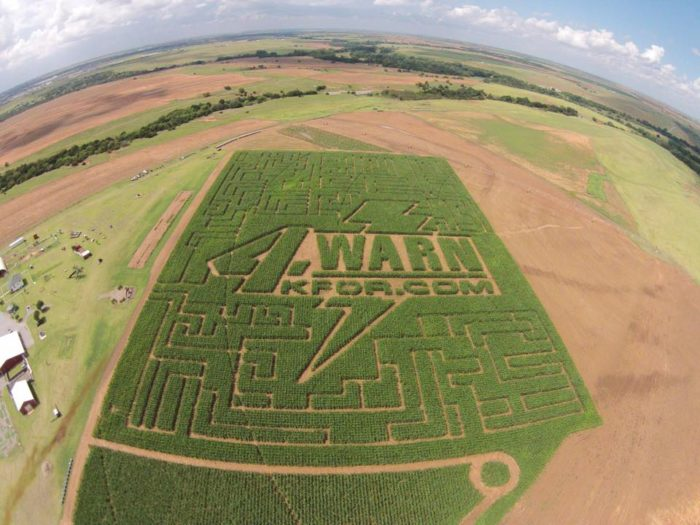 The corn maze is located on 10-acres of land with 3.5 miles of turns and twists, including 95 decision points.