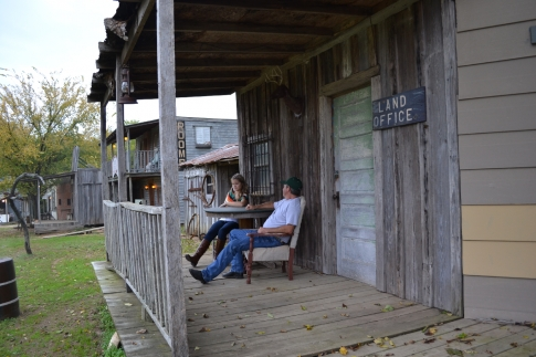 You can sit on the porch and enjoy the country lifestyle.