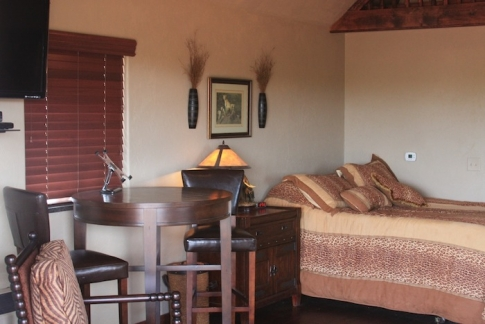 Your overnight stay will be an authentic African experience with full amenities.