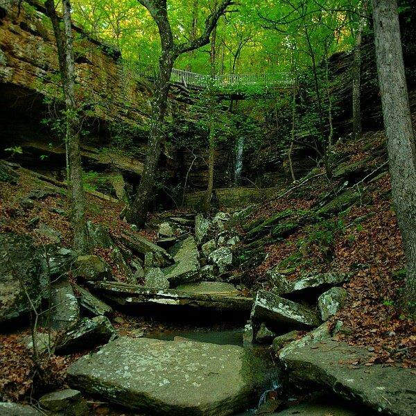 The park is one of the most unusual sites in the Southern U.S. due to its mysterious carvings on the side of the rocks.