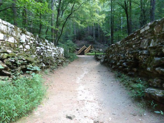 Poinsett Bridge is found in Greenville County, 24 miles from downtown Greenville and 37 miles from Spartanburg.