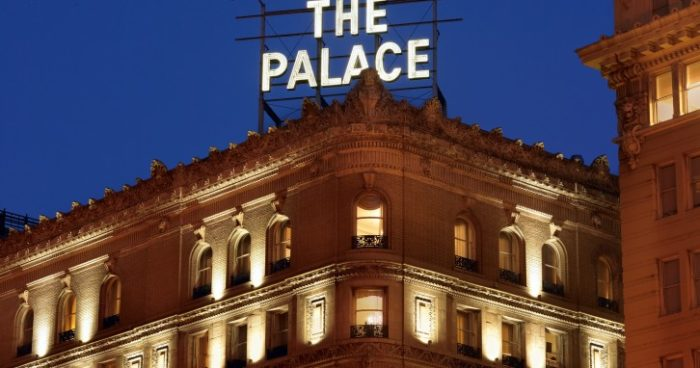 The Palace Hotel is located at 2 New Montgomery Street in San Francisco. Check out the Palace Hotel website to book a room.