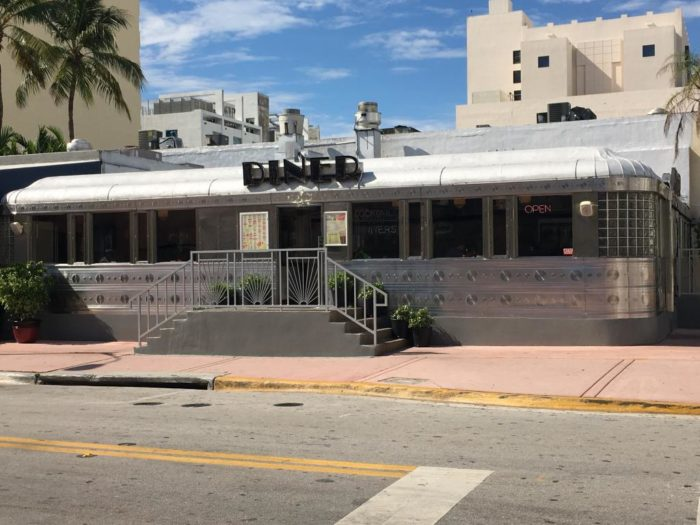 Even though it's surrounded by tall buildings, this adorable little diner feels right at home in Miami Beach's historic Art Deco District.