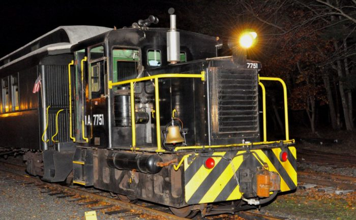 But on Halloween... things are different. The trains run at night.