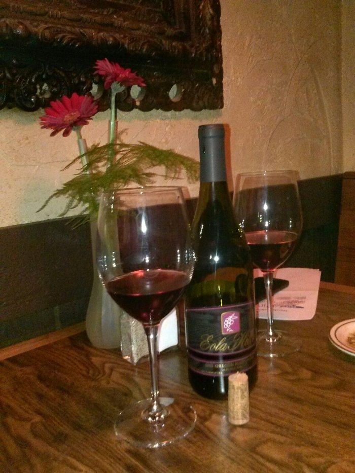 Enjoy a bottle of wine with your meal...if you're going to have a romantic dinner inside a jail cell, you might as well enjoy wine!