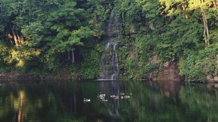 The Bluff is located in rural Iowa, tucked between two lakes, a 50-foot waterfall and the Maquoketa River.