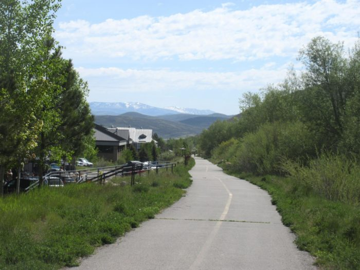 The trail goes right through Park City.