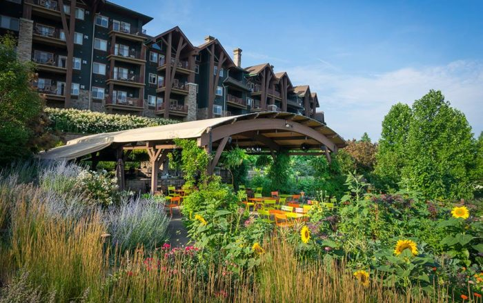 Restaurant Latour resides in the Grand Cascades Lodge at Crystal Springs Resort.