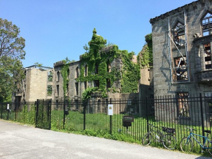 One of the most popular historic places to visit on the island? The ruins of an old Smallpox Hospital.