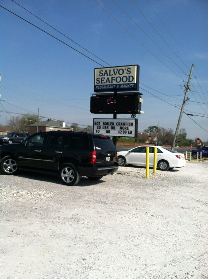 Once you get there, stop by Salvo Seafood.