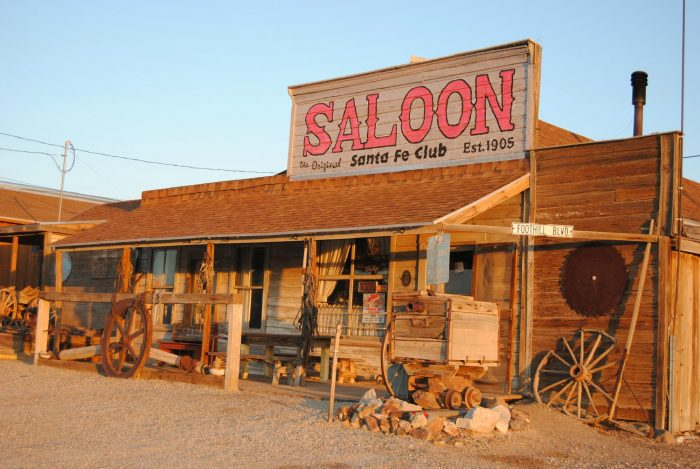There is one business in town that's still thriving. The Santa Fe Motel and Saloon has been renovated and has rooms available for guests of this ghost town.