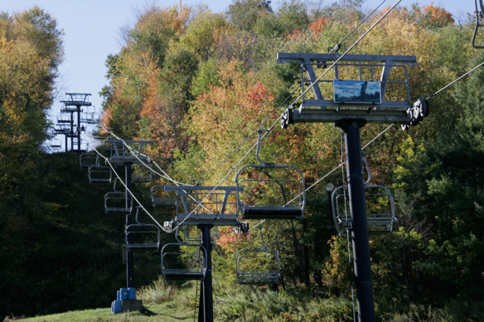 What many people don't know is that you can actually ride the ski lift year-round. The views during autumn are incredible.
