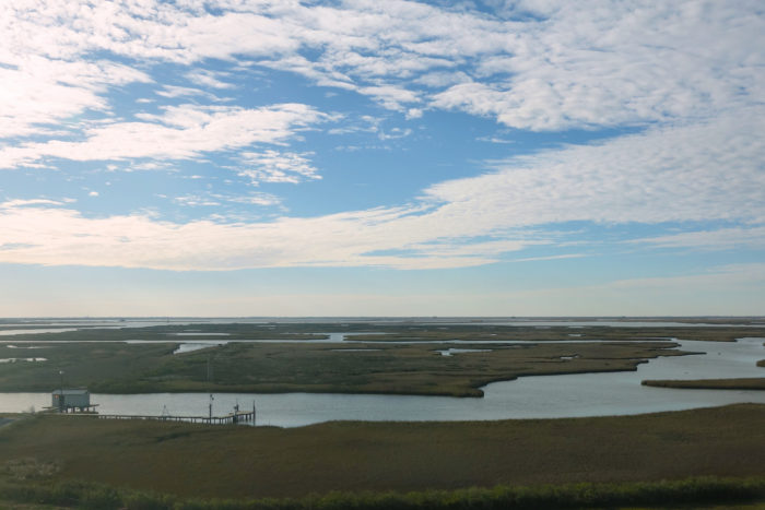But it's the view of the marshes that will truly take your breath away.