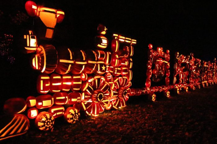 Pictured below you can see a couple of popular displays, the Circus Train and the Sea Serpent by the Croton River!