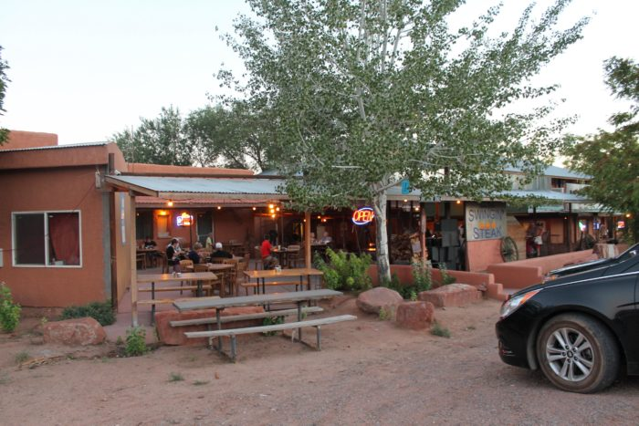 The Swingin' Steak is located in Mexican Hat at Highway 163 Main Avenue.