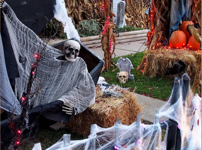 Other homes around town get elaborate with their decorations as well, and a festival happens each year.