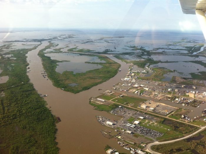 This high flying ride above the wetlands of Louisiana is truly beautiful.