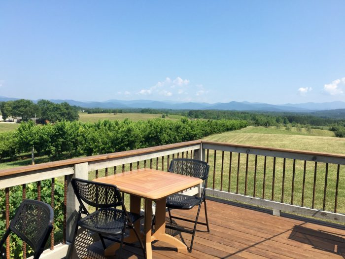 At Belle's, you'll get a neverending view of the gorgeous Blue Ridge Mountains.